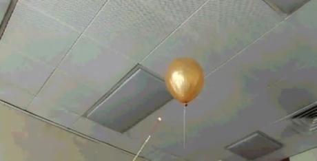 queimando balão de hidrogênio
