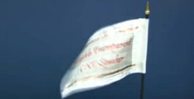 bandeira agitada pelo som