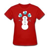camiseta boneco neve