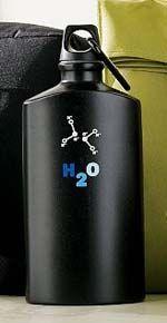 garrafa agua desenho molecula