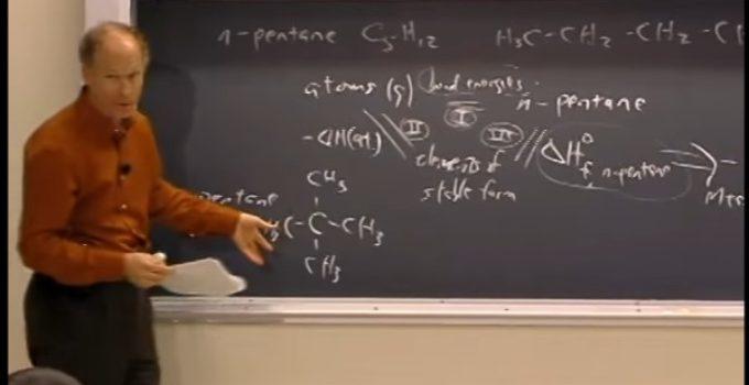 Energia de ligação e entropia – Aula no MIT