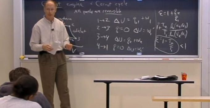 Entropia e desigualdade de Clausius – Aula no MIT