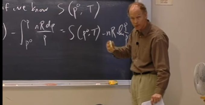 Terceira lei da termodinâmica – aula no MIT