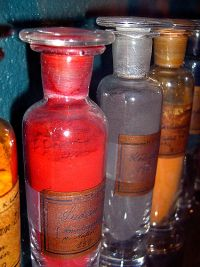 frascos garrafas quimica vortistic