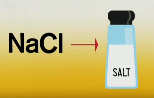 sódio e cloro no sal