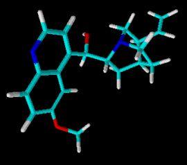 estrutura quimica quinina molecula