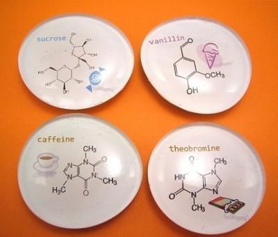 moleculas em ima de geladeira