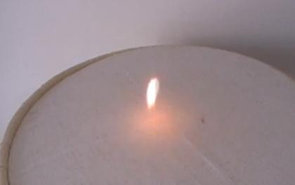 chama que lembra uma chama de vela