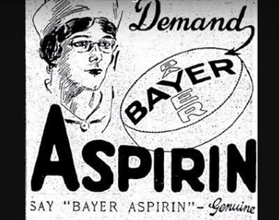 anúncio antigo sobre aspirina