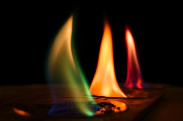 fogo em cores diferentes