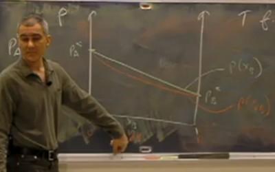 diagrama representando composição do vapor e líquido versus pressão