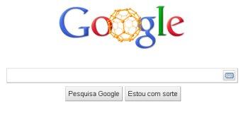 logotipo do google com molécula fulereno
