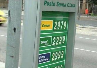 preço gasolina etanol e aditivada
