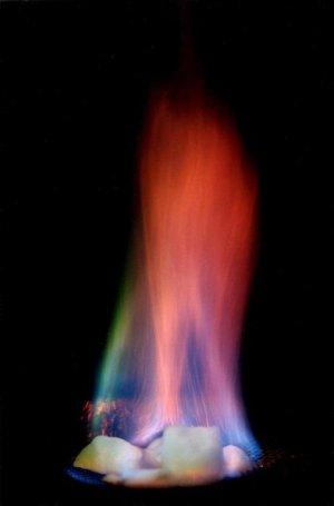 metano e gelo queimando