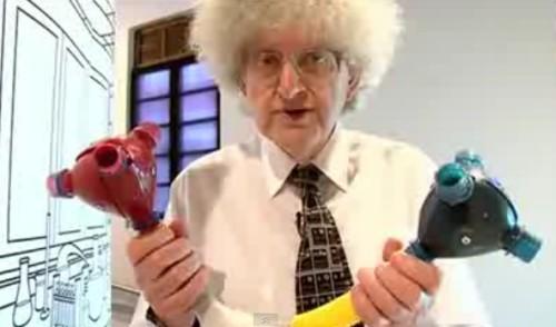 estrutura química feita com plástico pet