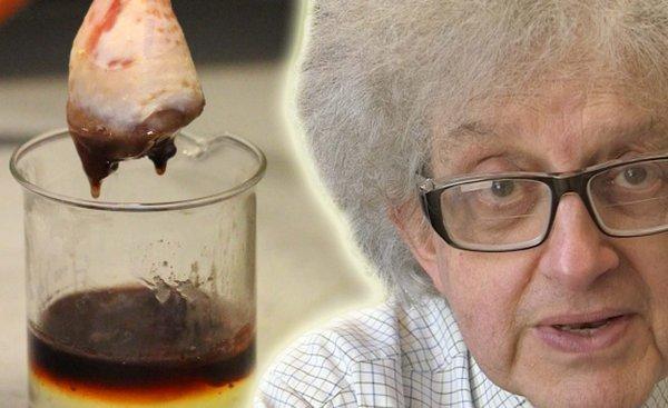 professor e coxa de galinha