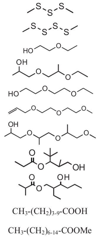 estruturas moleculares de substâncias em meteorito