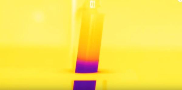 imagem térmica de tubo de ensaio