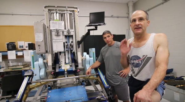 treinamento físico de astronautas