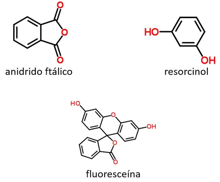anidrido ftálico resorcinol e fluoresceína