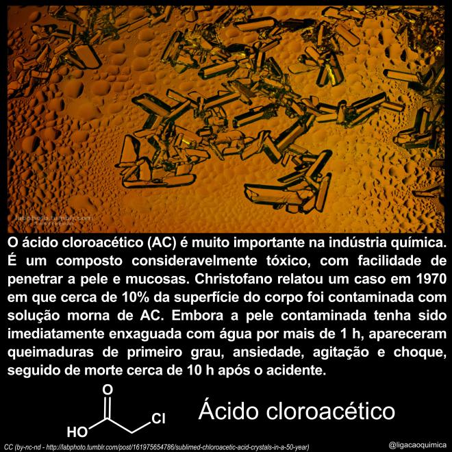 histórias e informações sobre o ácido cloroacético