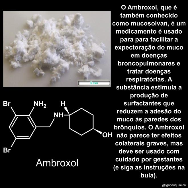 amostra estrutura e informações sobre o ambroxol