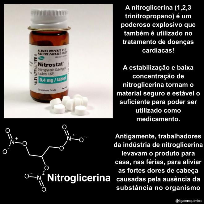 química e informações sobre a nitroglicerina