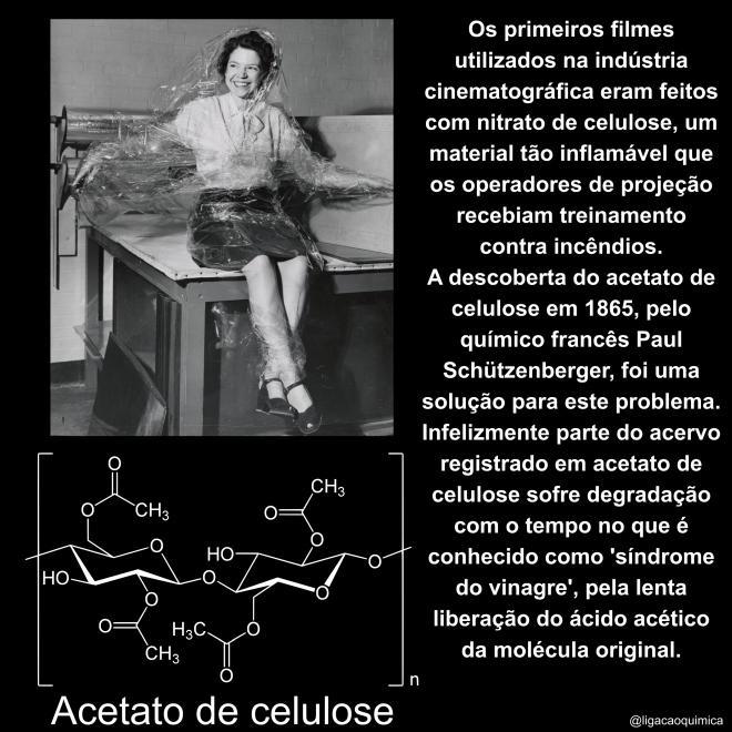 informações sobre o acetato de celulose e sua estrutura