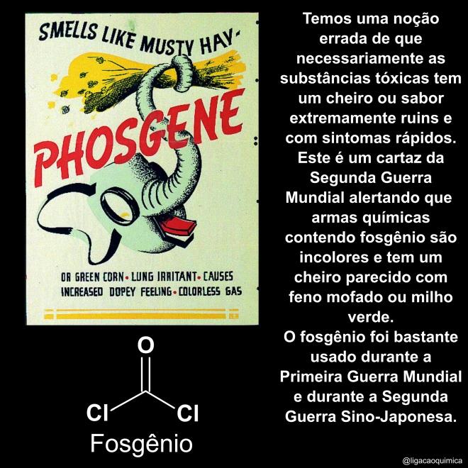 história e informações químicas sobre o fosgênio