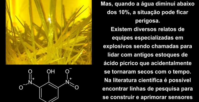 Hidrazina, corante índigo e ácido pícrico
