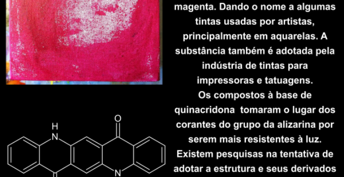 Geosmina, ácido elágico e quinacridona